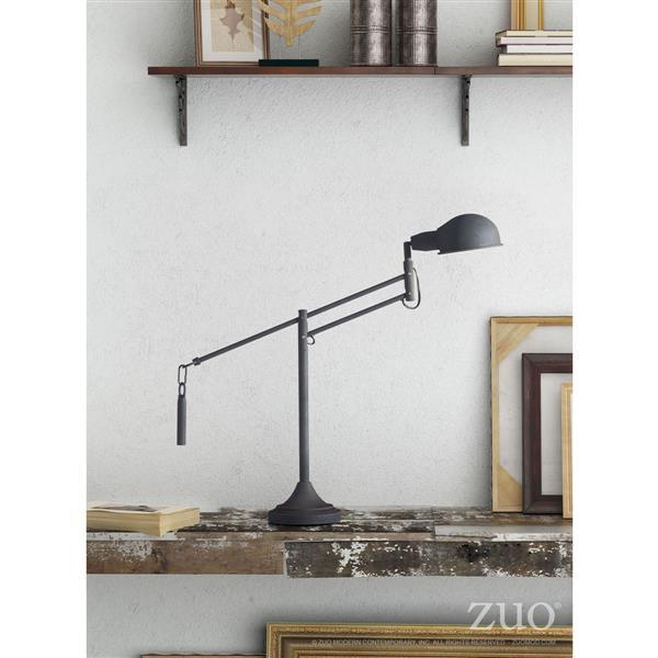 Lampe de table Skip de Zuo Modern, 26 po x 30 po, noir