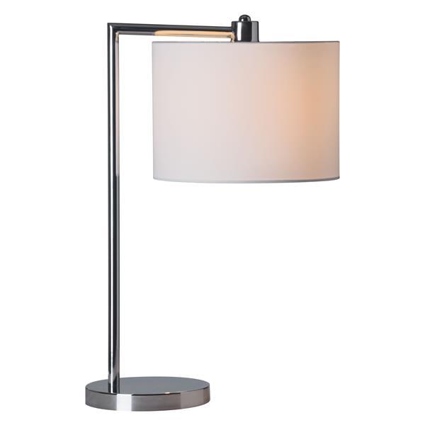 """Lampe de Table Race, Chrome, 24.4""""x16.5"""""""