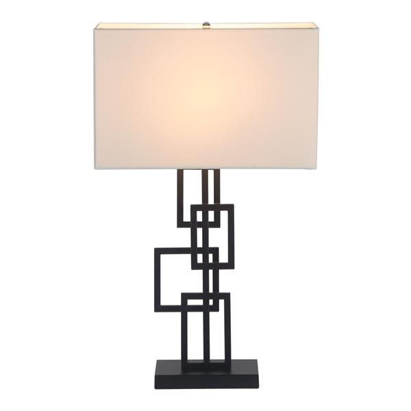 """Lampe de Table Step, Blanc et Noir, 26""""x15.7"""""""