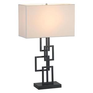 Lampe de table Step de Zuo Modern, 26 po, noir et blanc