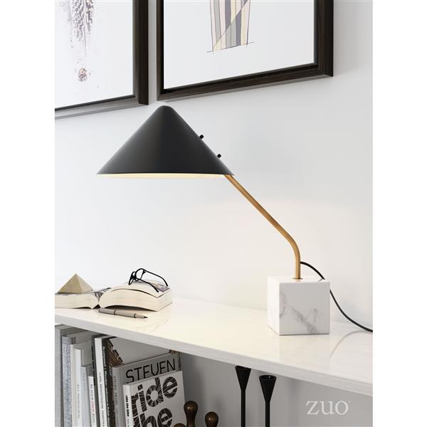 "Lampe de Table Pike,  Noir, 20.5""x 20.9"""