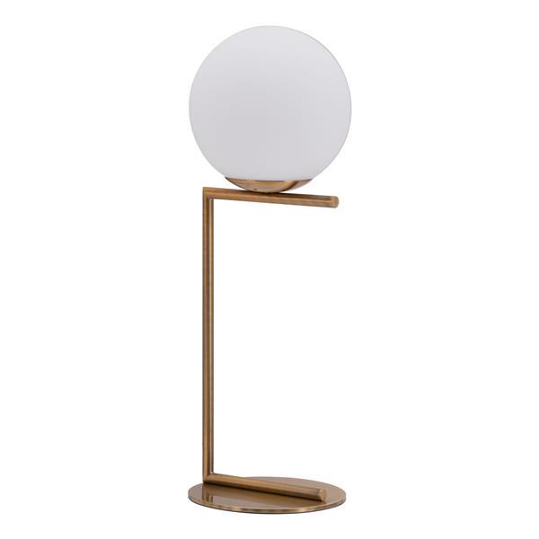 """Lampe de Table Belair, Laiton, 25.6"""""""