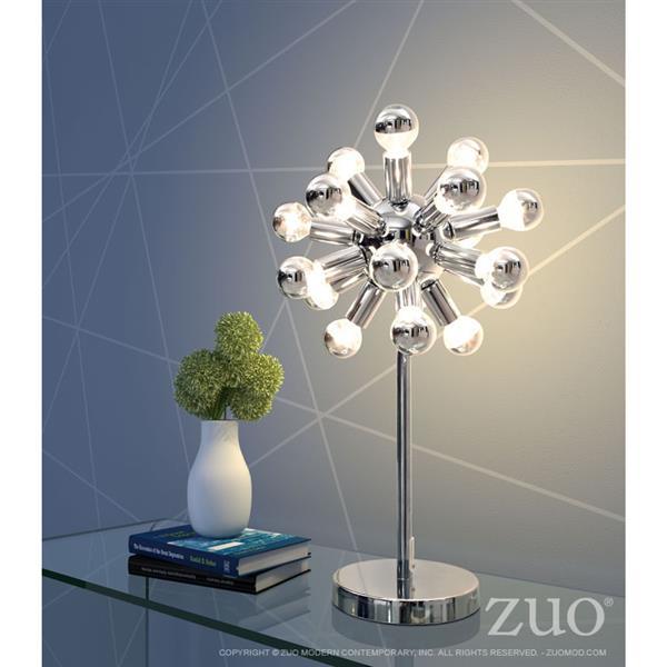 "Lampe de Table Pulsar, Chrome, 12"""