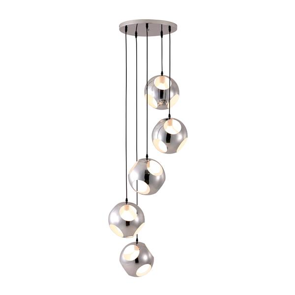 Zuo Modern Meteor Shower Collection - 5-Light - 23.6-in x 68-in - Chrome