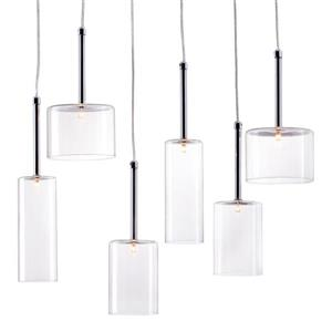 Zuo Modern Hale Pendant Light - 6-Light - 21.7-in x 59-in - Polished Chrome