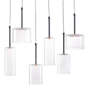 Luminaire suspendu Hale de Zuo Modern, 6 lumières, 21,7 po x 59 po, chrome poli