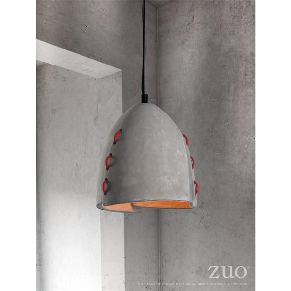 Zuo Modern Confidence Pendant Light - 9-in x 130-in - Grey