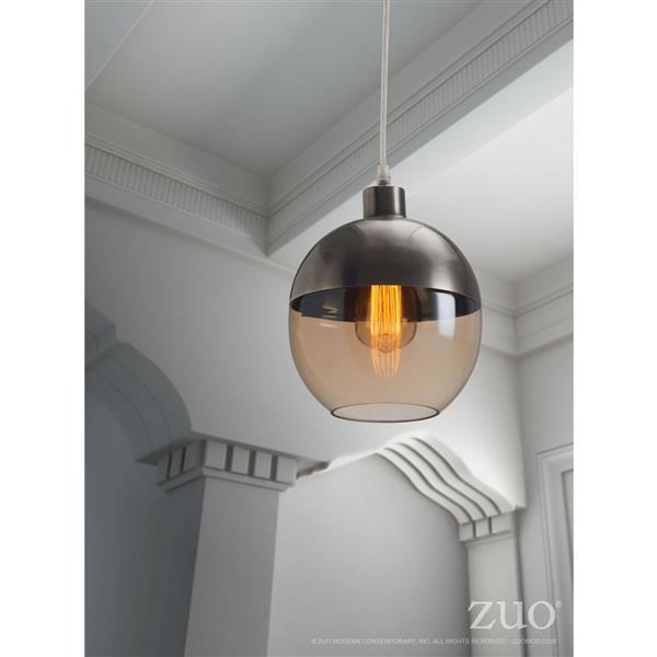 """Luminaire Trente, Satiné et ambré, 7.9""""x130"""""""
