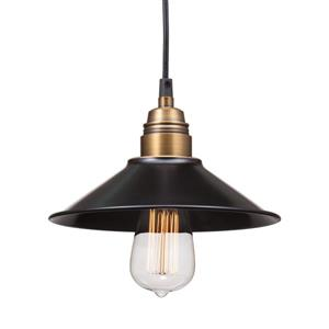 Zuo Modern Amaraillite Pendant Light - 8.9-in x 60-in - Black and Cooper