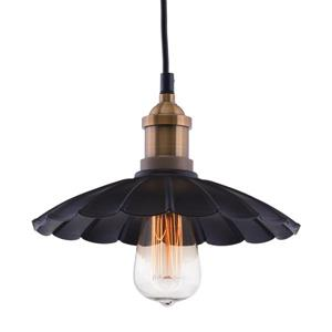 Zuo Modern Hamilton Pendant Light - 1-Light - 9.8-in x 130-in - Antique Black and Cooper