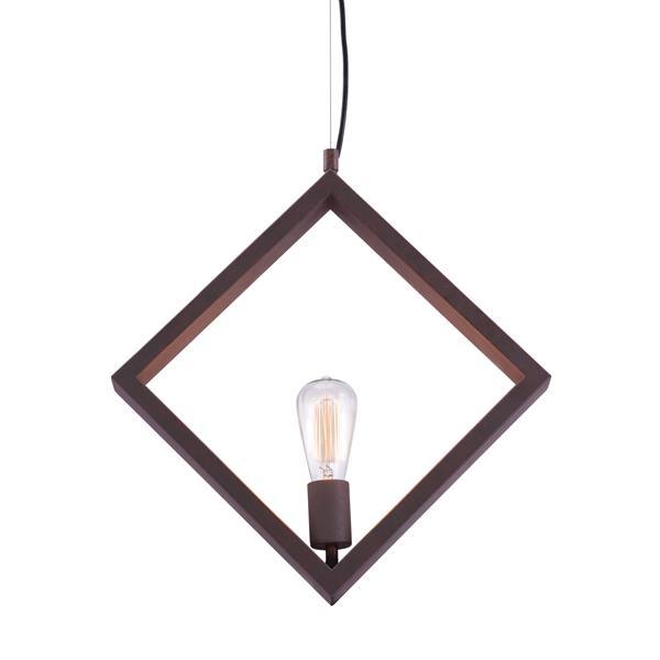 "Luminaire suspendu Rotorura, Rouille, 17.7""x138.6"""