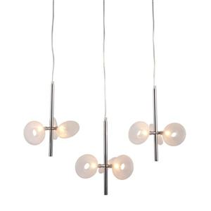 Zuo Modern Twinkler Pendant Light - 9-Light - 26.4-in x 59-in - Chrome