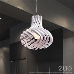 Zuo Modern Tsunami Pendant Light - 1-Light - 19.7-in x 138.7-in - White