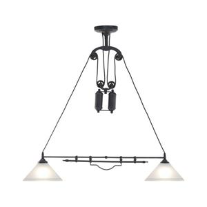 Zuo Modern Agate Pendant Light - 40.9-in x 63.9-in - Black