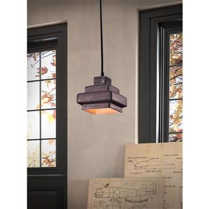 Zuo Modern  Wellingston Rustic Black Pendant Light