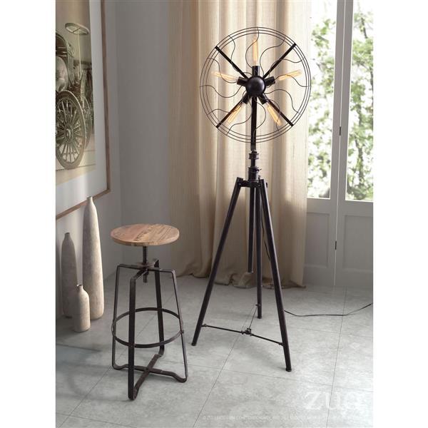 Zuo Modern Samsonyte Floor Lamp - 92.5-in - Variable Heights - Black