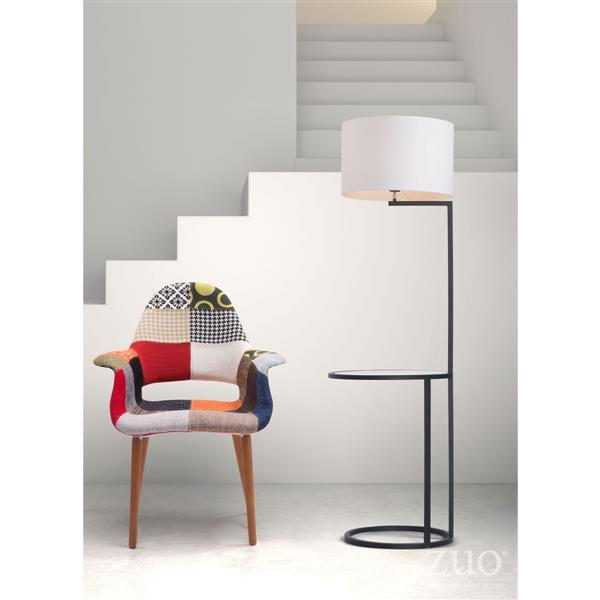 Lampe sur pied Swift, Blanc et Noir