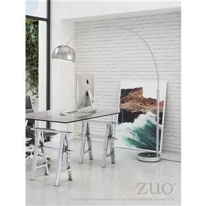 Lampe sur pied Galactic de Zuo Modern, 80 po, chrome
