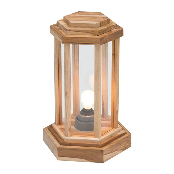 "Lampe de table Latter, Naturel, 13""x19.3"""