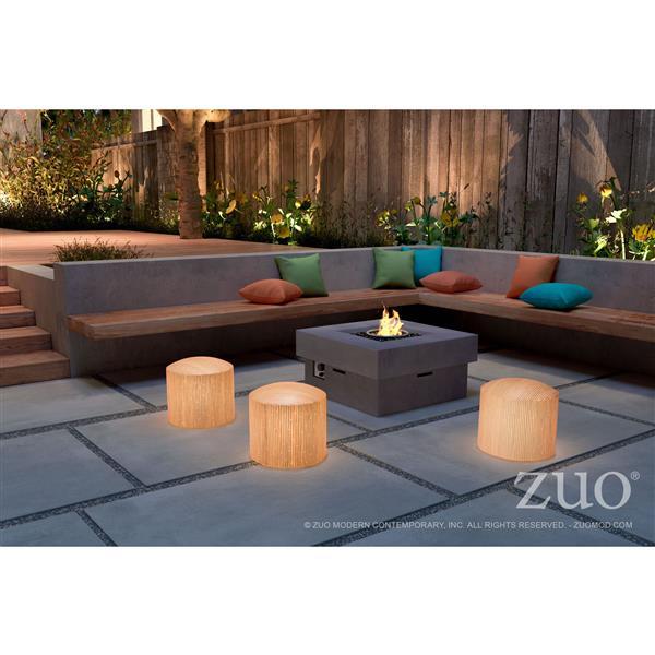Zuo Modern Wassu Illuminated Outdoor Bench - 15.7-in x 15-in - Beige