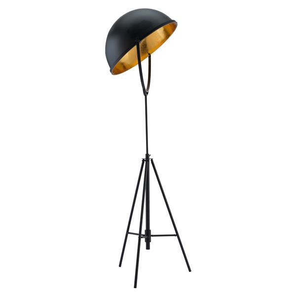 Lampe sur pied Vauxhall, Noir Antique, Hauteur Ajustable