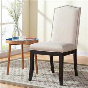 !nspire Studded Fabric Dining Chair - Set of 2 - Off-White