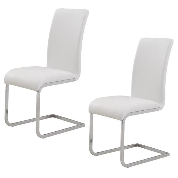 World Wide Home Furnishings WHi White Side Chair (Set of 2)