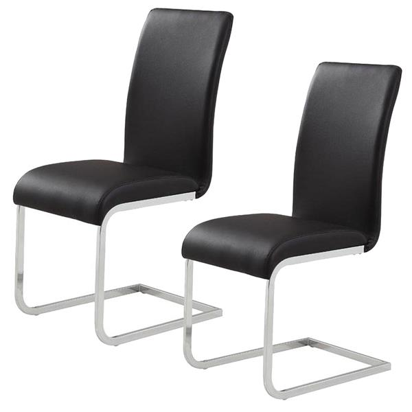 World Wide Home Furnishings WHi Black Side Chair (Set of 2)
