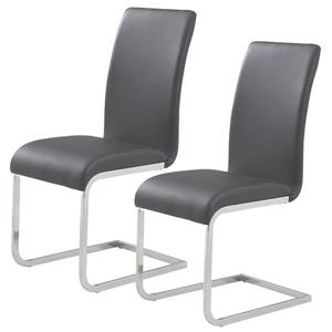 World Wide Home Furnishings WHi Gray Side Chair (Set of 2)