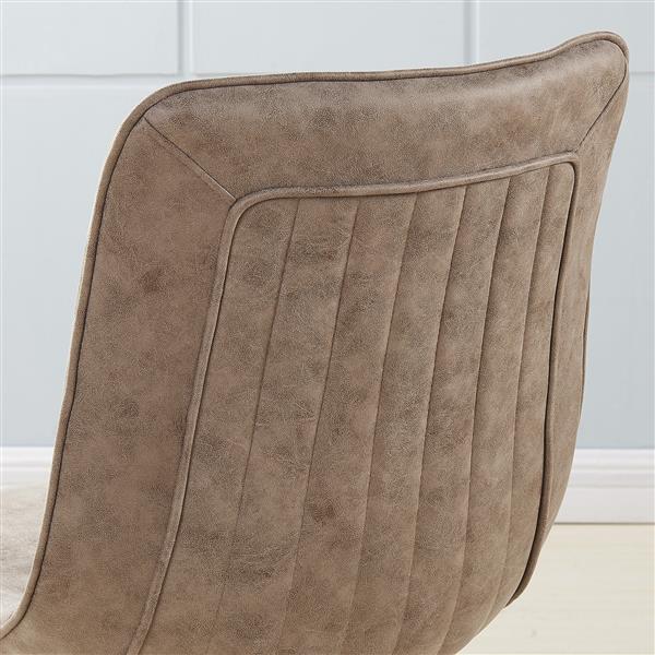 Chaise en métal avec similisuède !nspire, ens. de 2, brun