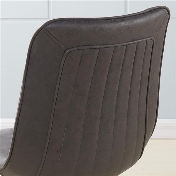 Chaise en métal avec faux suède gris !nspire, ens. de 2