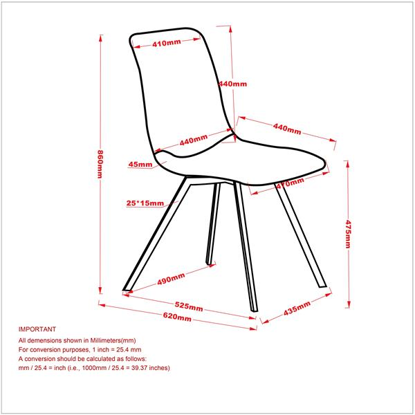 Worldwide Home Furnishings !nspire Grey Faux Suede Metal Side Chair (Set of 2)
