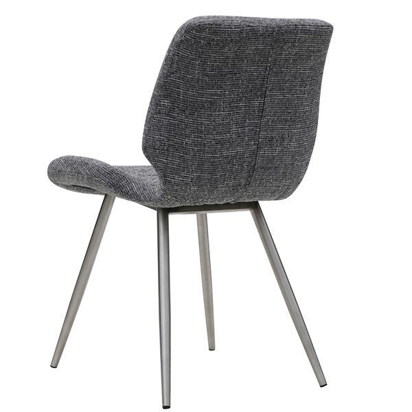 Chaise !nspire, gris et acier inoxydable, ens. de 2