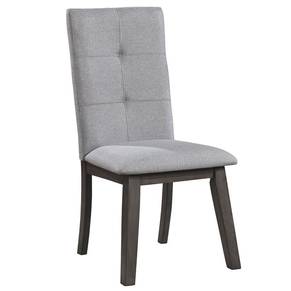 World Wide Home Furnishings WHi Gray Upholstered Side Chair (Set of 2)
