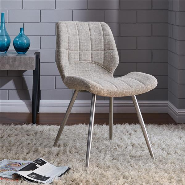 Worldwide Home Furnishings !nspire Brown Side Chair (Set of 2)