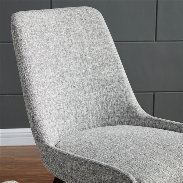 Chaise en tissu !nspire, ens. de 2, gris
