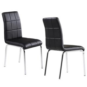 World Wide Home Furnishings WHi Black Faux Leather Dining Chair (Set of 4)