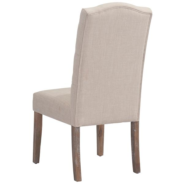 Worldwide Home Furnishings !nspire Beige Linen Button Tufted Side Chair (Set of 2)