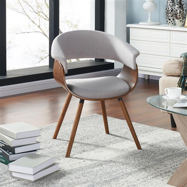 Worldwide Home Furnishings !nspire Grey Bentwood Accent Chair