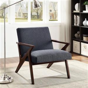 Worldwide Home Furnishings !nspire Grey Mid Century Fabric Accent Chair