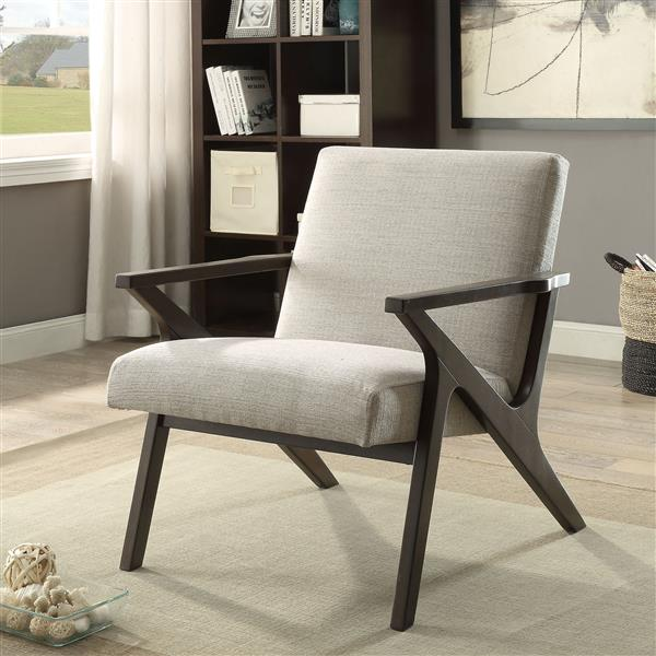 Worldwide Home Furnishings !nspire Brown Mid Century Modern Accent Chair