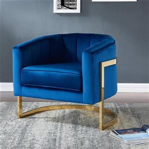 Worldwide Home Furnishings !nspire Blue Tarra Accent Chair