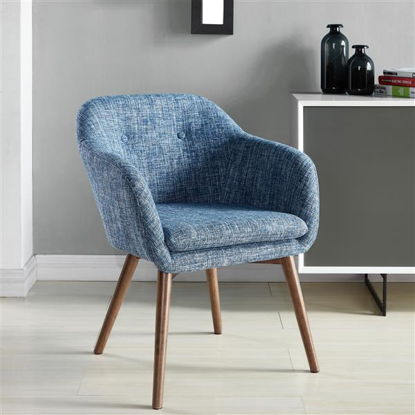 Worldwide Home Furnishings 30-in x 25.50-in Blue WHi Mid Century Accent Chair