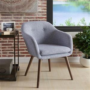 Worldwide Home Furnishings 30-in x 24.50-in Grey WHi Mid Century Accent Chair