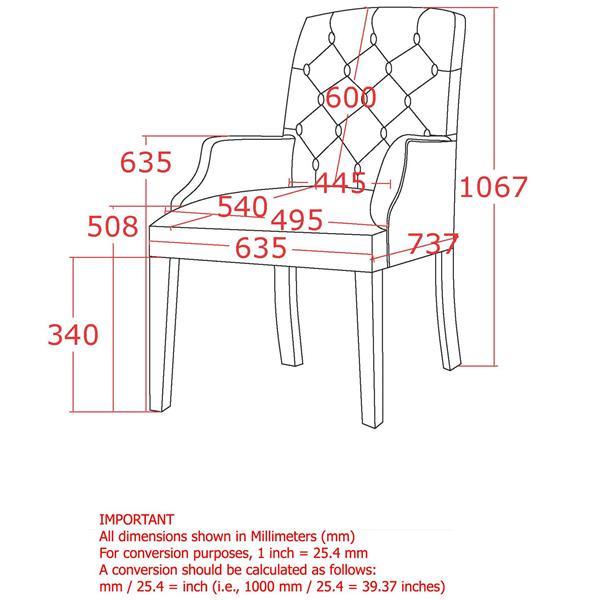 Chaise d'appoint capitonné en tissu !nspire, brun