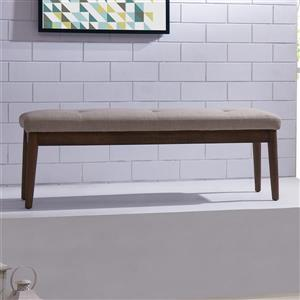 Worldwide Home Furnishings !nspire 48-in Brown Upholstered Double Indoor Bench