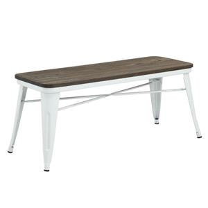 Worldwide Home Furnishings !nspire 43.25-in White Double Industrial Indoor Bench