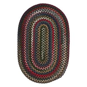Colonial Mills Chestnut Knoll Saddle Brown 5-ft x 8-ft Oval Multicoloured Area Rug