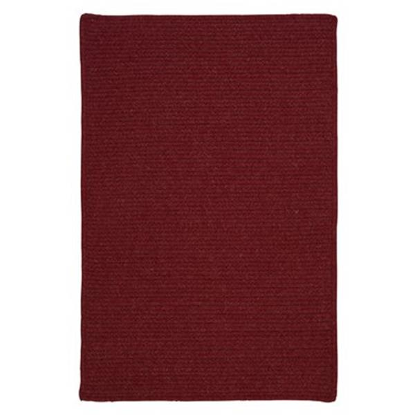 Colonial Mills Courtyard 7-ft x 9-ft Sangria Red Area Rug