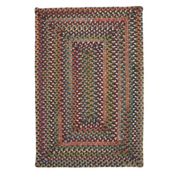 Colonial Mills Ridgevale Classic Medley 6-ft Square Red Area Rug